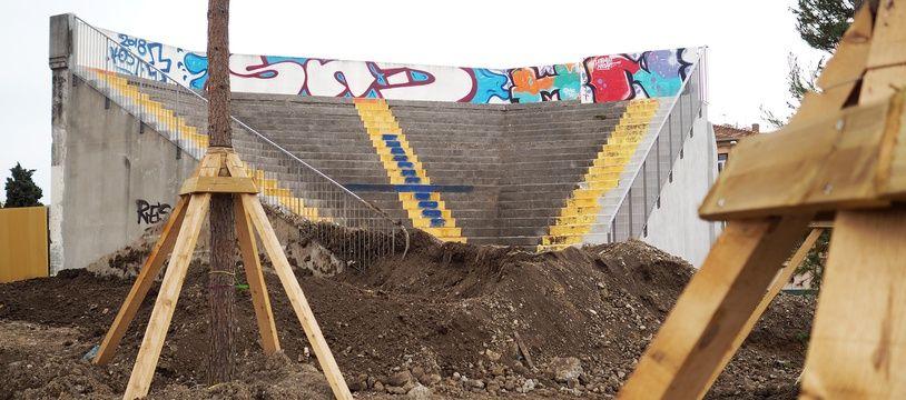 L'angle Est de la tribune Sud de l'ancien stade du Ray va être intégré au parc