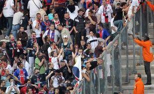 Les supporters du PSG, lors d'un déplacement à Amiens en Coupe de France, le 6 mai 2008