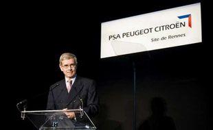 Philippe Varin, président du directoire de PSA, à Rennes en octobre 2010.