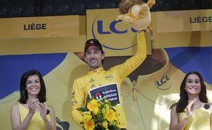 Fabian Cancellara a remporté le prologue du Tour de France pour la cinquième fois, le 30 juin 2012.