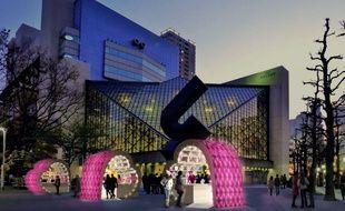 Trois cœurs ont été installés par l'Office de tourisme de Strasbourg et sa région à Tokyo dans le cadre de «Strasbourg mon amour» pour la Saint-Valentin.