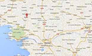 Localisation de Saint-Nicolas-de-Redon, en Loire-Atlantique