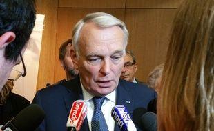 Jean-Marc Ayrault à Strasbourg pour une conférence de presse sur l'Europe.