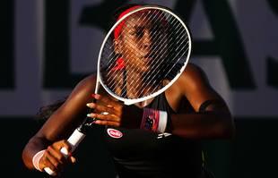 L'Américaine Coco Gauff durant le premier tour du simple dame, à Roland-Garros, Paris, le 1erjuin 2021.