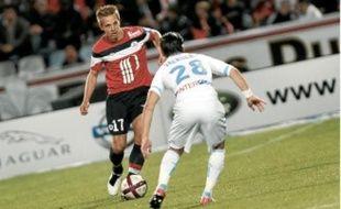 Benoît Pedretti, ici face à Marseille, veut montrer qu'il peut réussir dans un grand club.