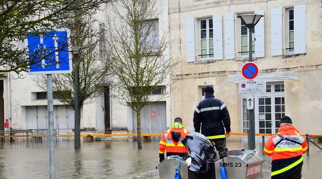 Tempête Justine : La ville de Saintes fait face à une montée des eaux exceptionnelle - 20 Minutes