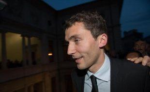 Le maire FN de Beaucaire, Julien Sanchez, le jour de son élection le 30 mars 2014