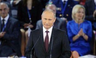 """Le président russe, Vladimir Poutine, a déclaré vendredi que les homosexuels ne devaient pas craindre d'être poursuivis au cours des jeux Olympiques à Sotchi en février, tout en défendant une loi controversée sur la """"propagande"""" homosexuelle devant mineurs."""