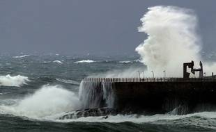 La tempête Bruno qui a touché la Bretagne la semaine dernière.