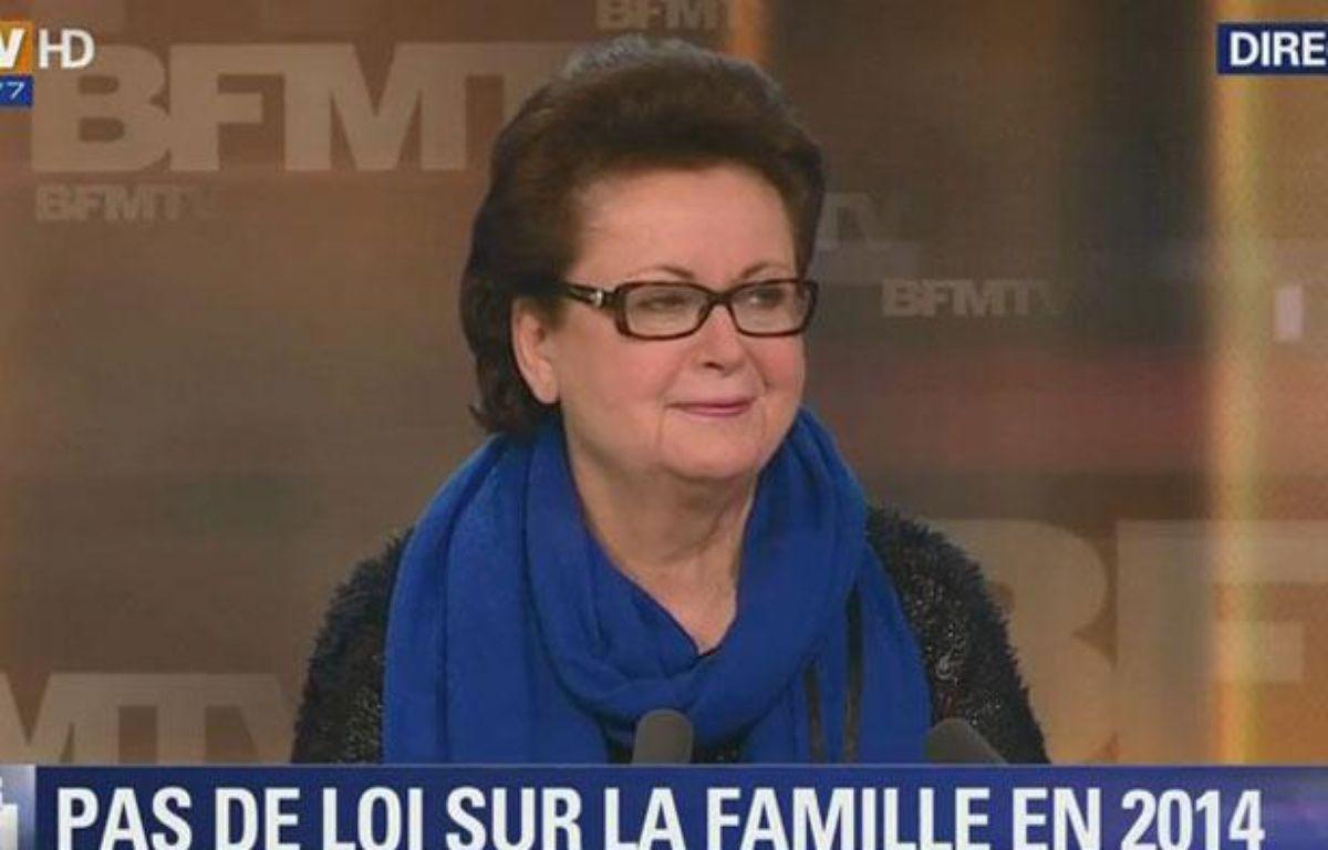 Christine Boutin sur le plateau de BFMTV le 3 février 2014. – Capture d'écran Google