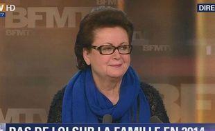 Christine Boutin sur le plateau de BFMTV le 3 février 2014.