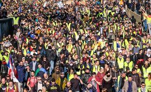 Lors d'une manifestation des gilets jaunes. Illustration