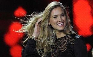 Bar Refaeli lors du concours de Miss Ukraine, le 31 mars 2012.