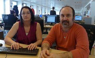 Nadia et Thierry Portheault pour leur livre «Revenus du Front».