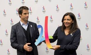 Tony Estanguet et Anne Hidalgo à Lausanne, le 11 juillet 2017.