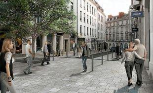 La rue sera transformée pour faire davantage de places aux piétons et vélos.