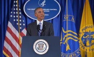 Le président Barack Obama lors de la présentation des grandes lignes du plan d'action américain, à Atlanta le 16 septembre 2014