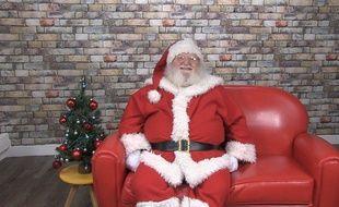 Le pépère Noël dans les locaux de «20 Minutes».