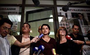 Najat Vallaud-Belkacem a appelé les candidats des autres partis de gauche, à se rassembler derrière sa candidature à Villeurbanne. JEFF PACHOUD/ AF