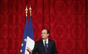 Le président François Hollande à l'Elysée, le 22 mai 2014