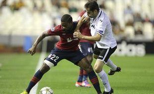 Le défenseur lillois Aurélien Chedjou, le 2 octobre 2012, à Valence.