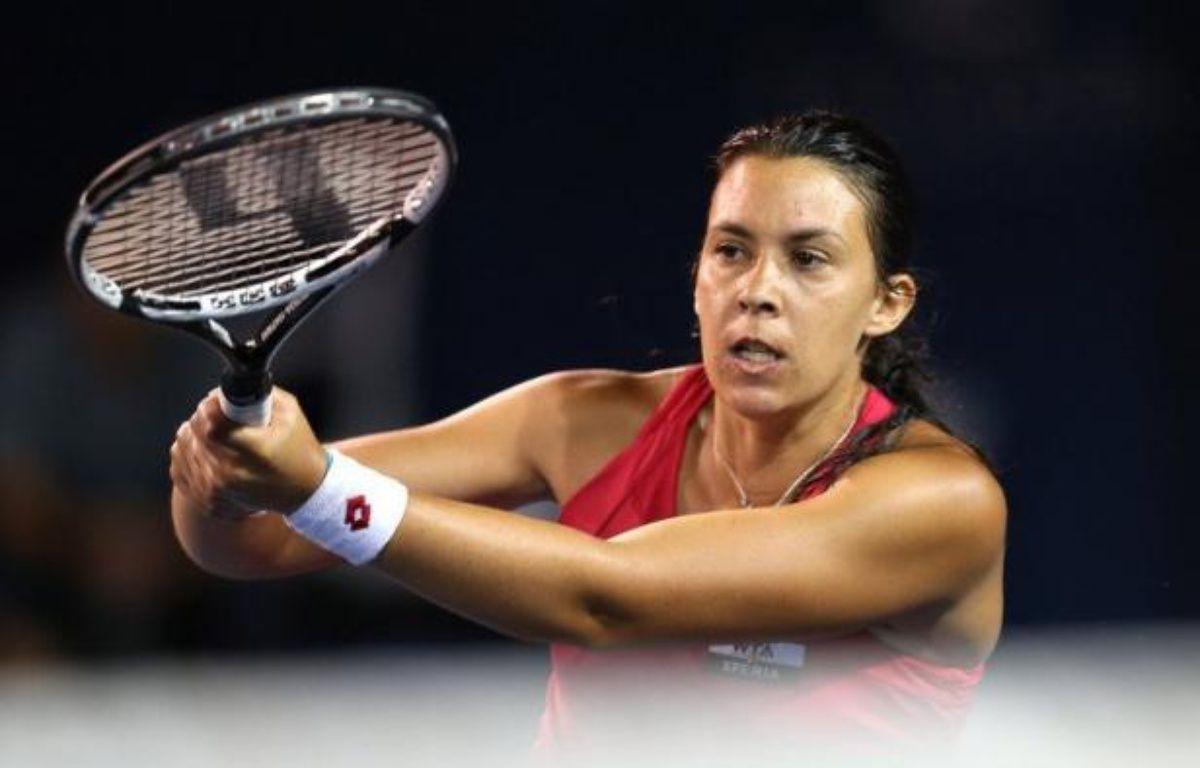 Marion Bartoli, tête de série N.1 et 10e mondiale, s'est qualifiée vendredi pour les demi-finales du tourno de Carlsbad, en battant l'Américaine Christina McHale (27e mondiale) 7-5, 4-6, 6-4. – Stephen Dunn afp.com