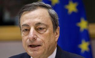 Mario Draghi, président de la BCE, le 12 novembre 2015 à Bruxelles.