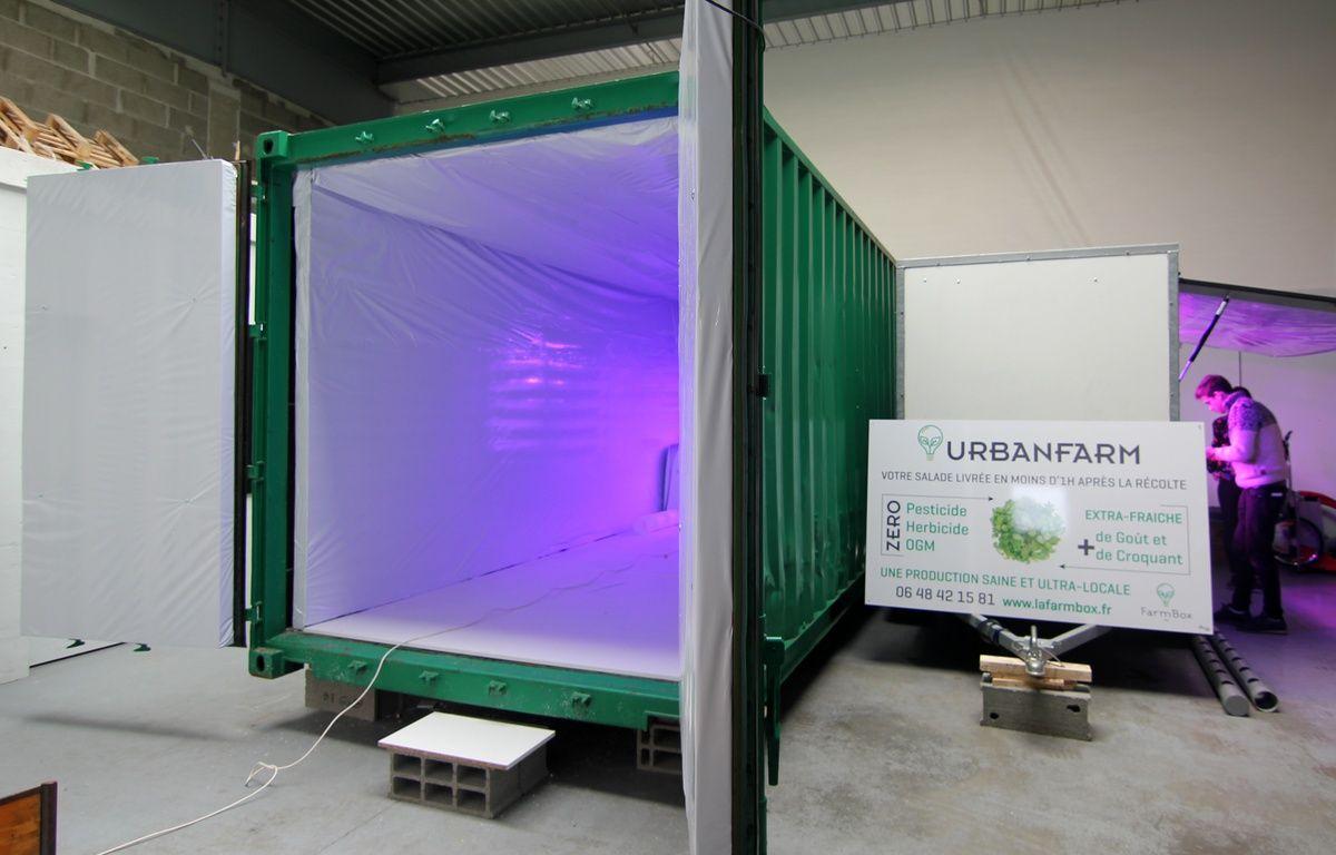 Quatre containers transformés en ferme urbaine seront installés à Rennes par Urbanfarm. – C. Allain / APEI / 20 Minutes
