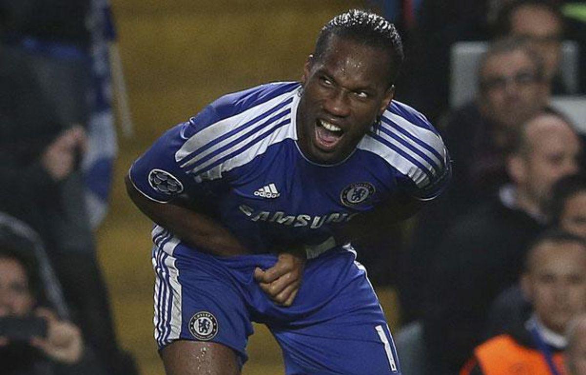 Didier Drogba lors de Chelsea - Barcelone, le 18 avril 2012 – E.KEOGH/REUTERS