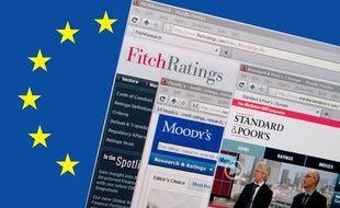 Sites Internet des trois principales agences de notation du monde: Fitch Ratings, Moody's et Standard & Poor's. Ces agences sont chargées d'évaluer et de noter la sante financière d'entreprises, d'institutions, de collectivités, Etats compris.