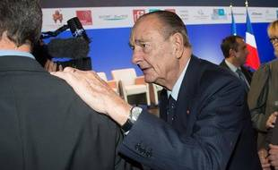 Jacques Chirac à Paris le 21 novembre 2013.