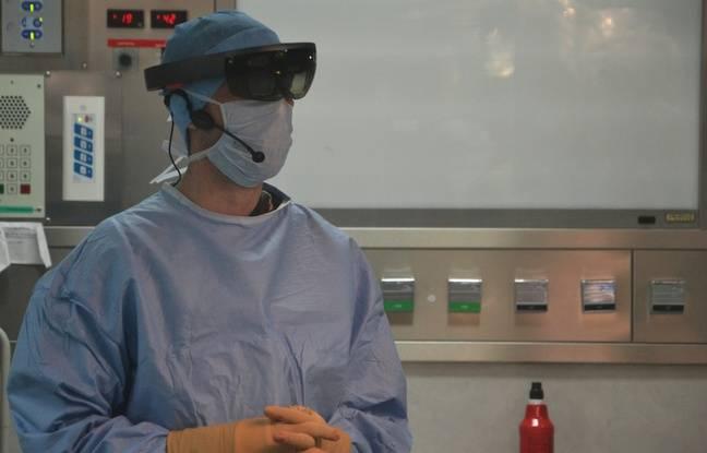 Les lunettes permettent de faire apparaître des informations médicales utiles pendant l'opération.