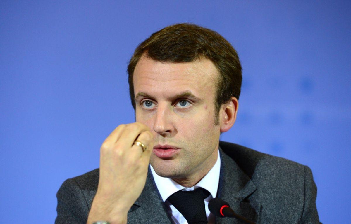 Le ministre de l'Economie, Emmanuel Macron, le 2 décembre 2014, à Berlin. – JOHN MACDOUGALL / AFP