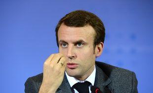 Le ministre de l'Economie, Emmanuel Macron, le 2 décembre 2014, à Berlin.