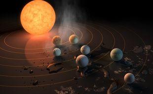 Le système autour de l'étoile Trappist-1 comprend sept planètes similaires à la Terre.