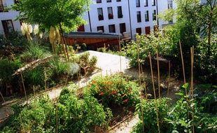 Un jardin partagé à Paris.