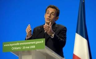 Nicolas Sarkozy lors d'un discours à Orléans le 20 mai 2008