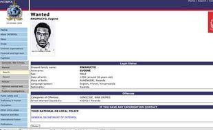 capture d'écran du site d'interpol