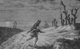 Le mythe de la ganipote a effrayé les campagnes de l'Ouest. Illustrationparue dans Marianne en 1939.