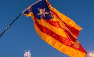 Un drapeau catalan, en Espagne (illustration)