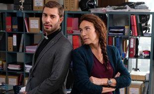 Marwan Berreni et Isabel Otero dans le téléfilm «Les Mystères de la basilique» sur France 3