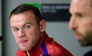 Wayne Rooney en conférence de presse le 10 octobre 2016.