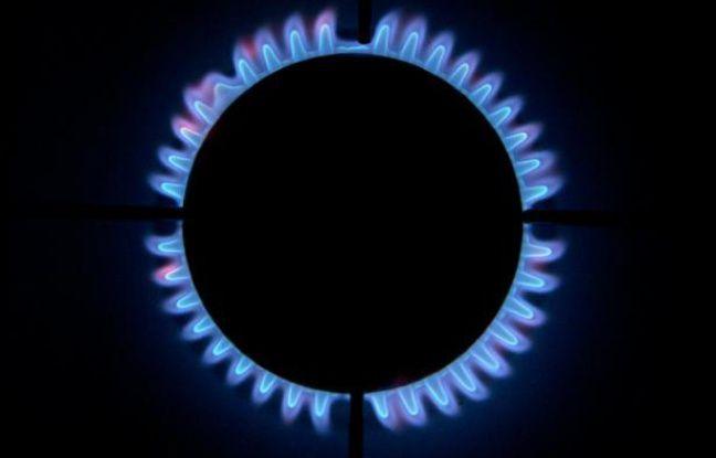 La flamme d'une cuisinière au gaz, le 11 décembre 2012 à Chisseaux (France)