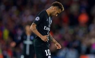 Neymar à Liverpool en Ligue des champions, le 18 septembre 2018.