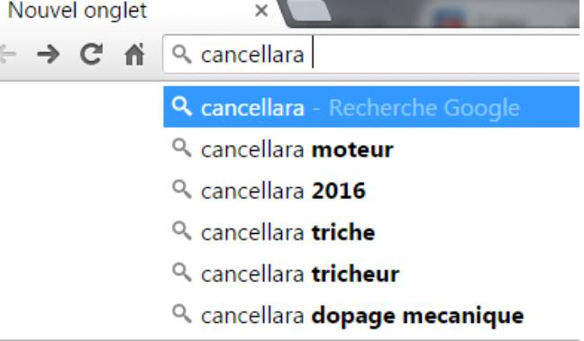 Cancellara sur google
