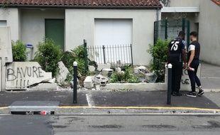 La voiture de la victime s'est encastrée dans ce mur de la rue des Plantes.