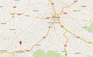La commune de Saint-Marcet, au sud de la Haute-Garonne.