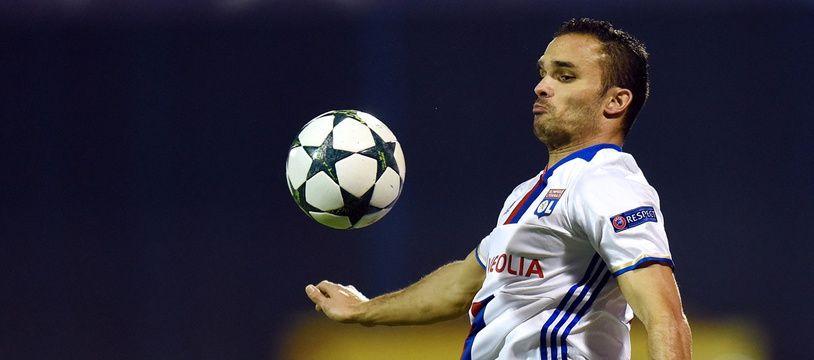 Jérémy Morel lors du match entre le Dinamo Zagreb et Lyon le 22 novembre 2016.