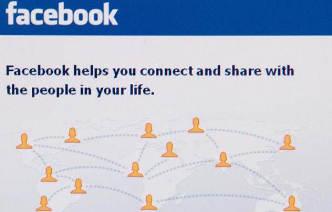 Page d'accueil du réseau social Facebook.