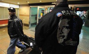 Un fan de Barack Obama arrive à Washington le 19 janvier 2009, pour participer à l'investiture du 44e président des Etats-Unis.